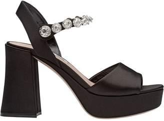 Miu Miu crystal-embellished retro sandals
