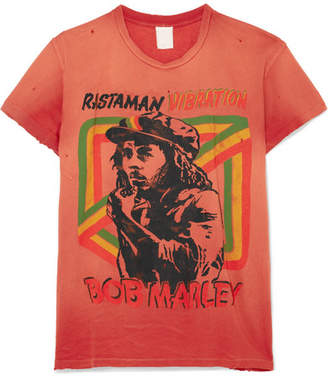 MadeWorn Bob Marley Distressed Printed Cotton-jersey T-shirt