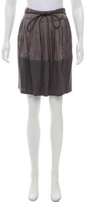 Gunex Wool & Silk Pleated Skirt
