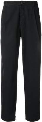 Folk straight-leg trousers