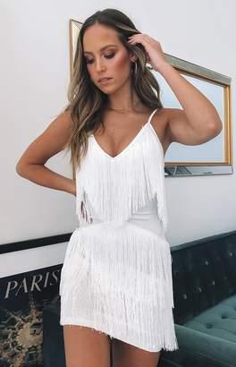 Bb Exclusive Chicago Fringe Dress White
