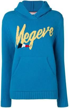 Moncler hooded logo jumper