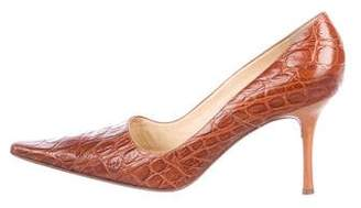 Vicini Embossed Pointed-Toe Pumps