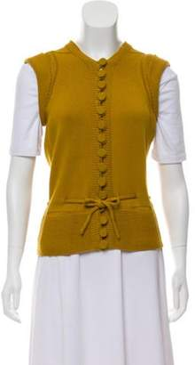 Gucci Wool Knit Vest Gold Wool Knit Vest