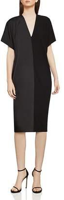 BCBGMAXAZRIA Satin & Jersey Shift Dress