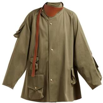 Loewe Military Cotton Twill Jacket - Womens - Green