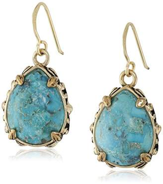 Barse Jubilee Teardrop Bronze and Turquoise Earrings