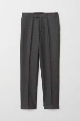 H&M Slim fit Wool-blend Pants - Gray