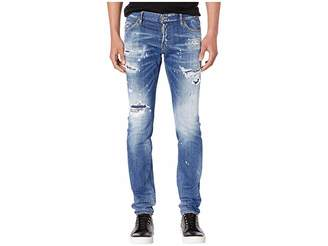 DSQUARED2 Ripped White Spots Wash Slim Jeans