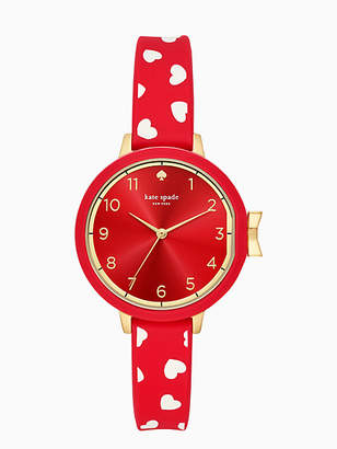 Kate Spade Park row scattered hearts silicone watch