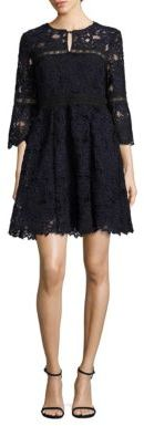 Nanette Lepore Chiaroscuro Bell Sleeve Floral Lace Dress $398 thestylecure.com
