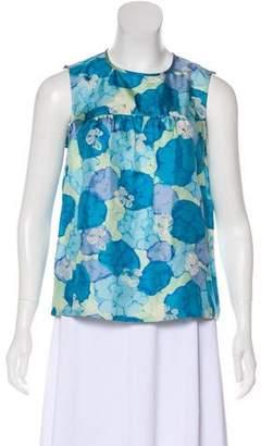 Louis Vuitton Sleeveless Silk Top
