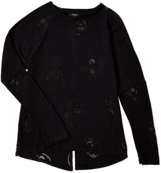 Zara Terez Girls 7-16) Black Burnout Skull Tee