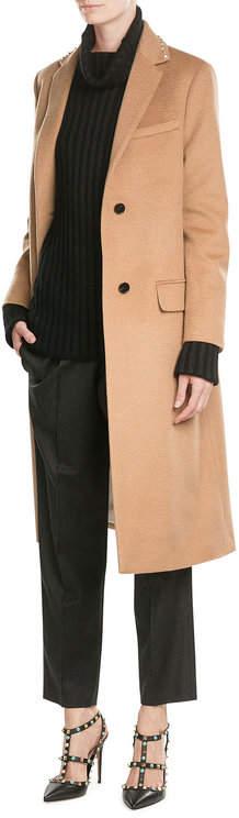 ValentinoValentino Wool Coat with Rockstuds