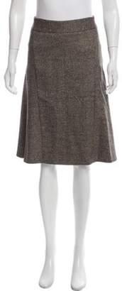 Michael Kors Wool Knee-Length Skirt Brown Wool Knee-Length Skirt
