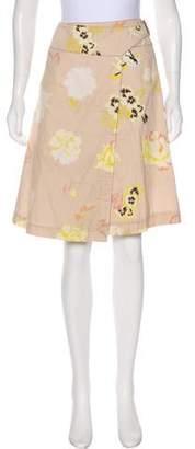 Max Mara Weekend Floral Print Knee-Length Skirt
