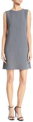 Emporio Armani Sleeveless Contrast Bra-Back Cady Shift Dress