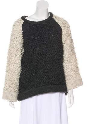 IRO Arzel Bouclé Colorblock Sweater