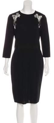 Giambattista Valli Midi Virgin Wool Dress