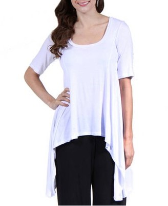 24/7 Comfort Apparel Women's Extra Long Tunic Top