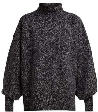The Row - Pheliana Roll Neck Cashmere Sweater - Womens - Navy Multi
