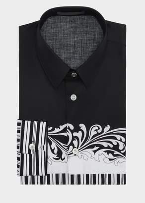 Versace Pinstripe Baroque Shirt