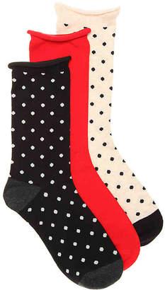 Kelly & Katie Polka Dot Crew Socks - 3 Pack - Women's