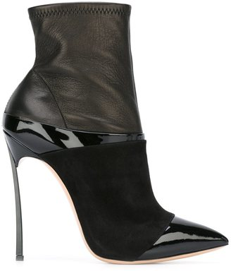 Casadei pointed toe heeled booties $760.57 thestylecure.com