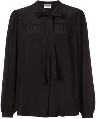 Saint Laurent pussy bow blouse