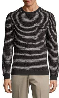 ATM Anthony Thomas Melillo Broken-Striped Sweatshirt