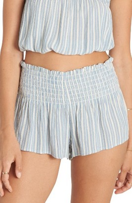 Women's Billabong Breezy Day Stripe Smocked Shorts $36.95 thestylecure.com