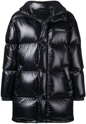 Ermenegildo Zegna midi hooded padded coat