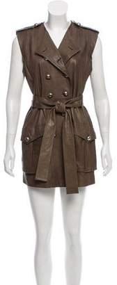 Robert Rodriguez Leather-Paneled Mini Dress w/ Tags