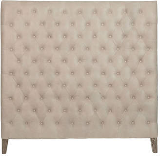 OKA King Chesterfield Leather High-Rise Headboard