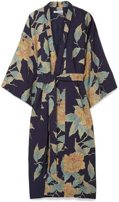Elizabeth and James Zoe Floral-print Twill Jacket - Navy
