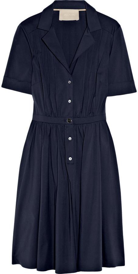 Jason Wu Full-skirted cotton-blend shirt dress