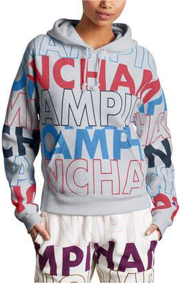 Champion Reverse Weave Logo-Print Hoodie