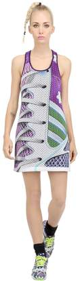 adidas By Mary Katrantzou Printed Mesh Neoprene Dress
