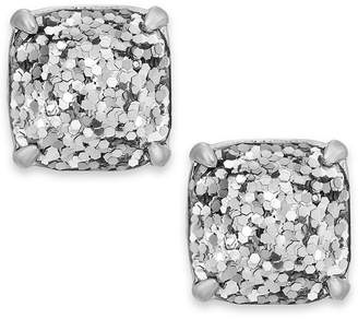 Kate Spade Silver-Tone Metallic Glitter Stone Stud Earrings