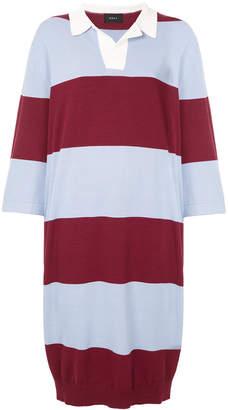 G.V.G.V. oversized striped rugby shirt dress
