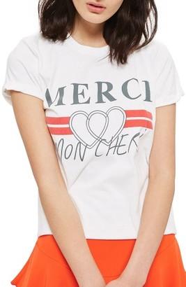 Women's Topshop Merci Mon Cheri Tee $28 thestylecure.com