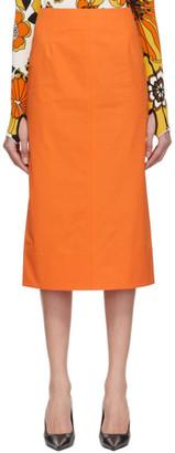 Kwaidan Editions Orange Poplin Pencil Skirt