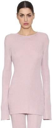 Nina Ricci Lurex Rib Knit Sweater