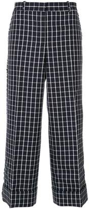 Thom Browne Lowrise Sack Trouser W/Fray Check Sable Wool Crepe