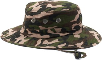Peter Grimm Camouflage Lachlan Ripstop Bucket Hat with Chin Cord