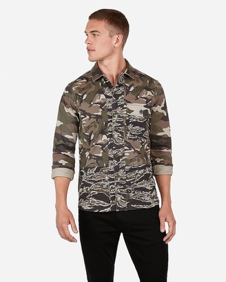 f38ec5e3d4d4d Express Mixed Camo Shirt Jacket