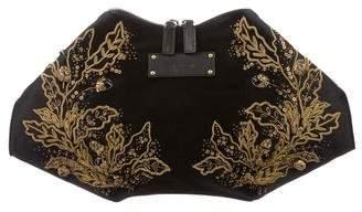 Alexander McQueen Embellished De Manta Clutch