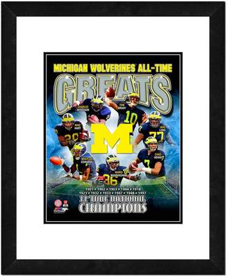 """NCAA Kohl's Michigan Wolverines All-Time Greats Framed 11"""" x 14"""" Photo"""