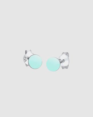 Earrings Circle Basic Geo Trend Mint 925 Silver