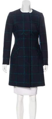 Christian Dior Wool Check Coat